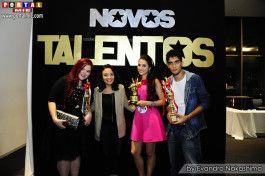 Os vencedores: Rebeca, Regiane e Gustavo